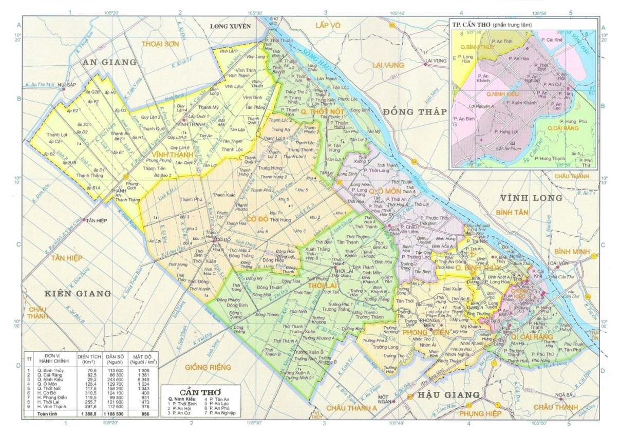Can Tho City Map VinaBeez